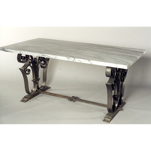 Iron and marble table
