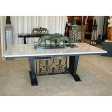 Iron & Arabescato Marble table