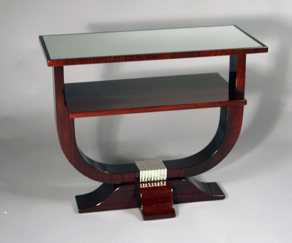 Side table with mirror top