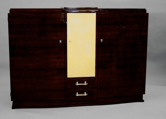 Rosewood Cabinet with Parchment covered door