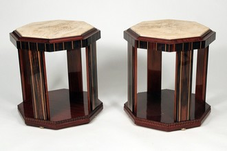 Pair of hexagonal side tables