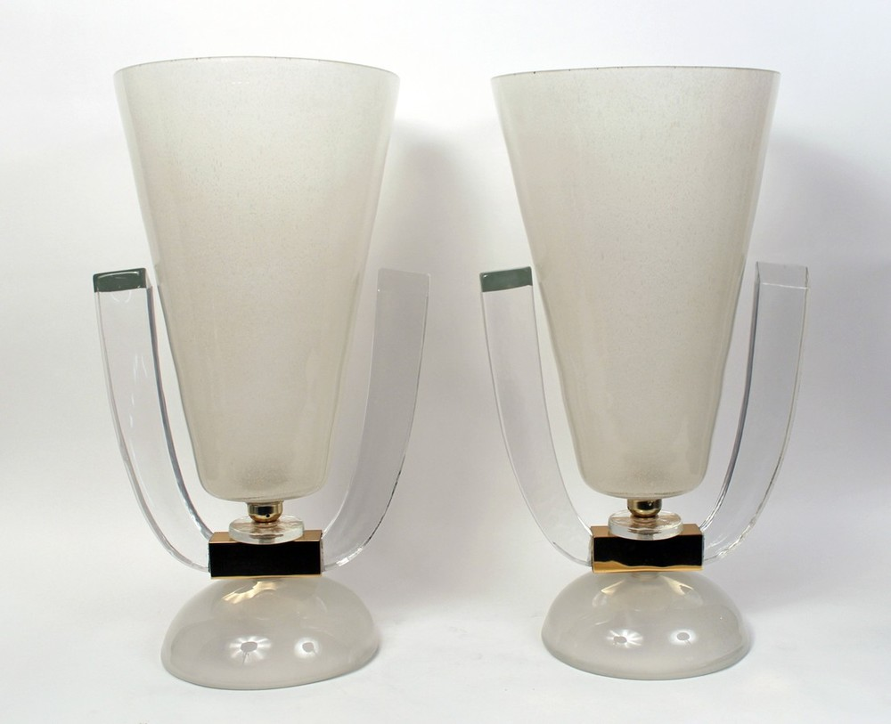 Pair of table lamps / urns