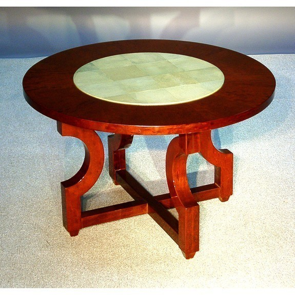 Table with sharkskin center