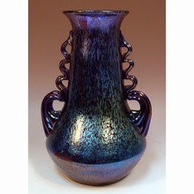 Cobalt blue Papillon glass vase