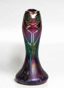 Vase with silver overlaid
