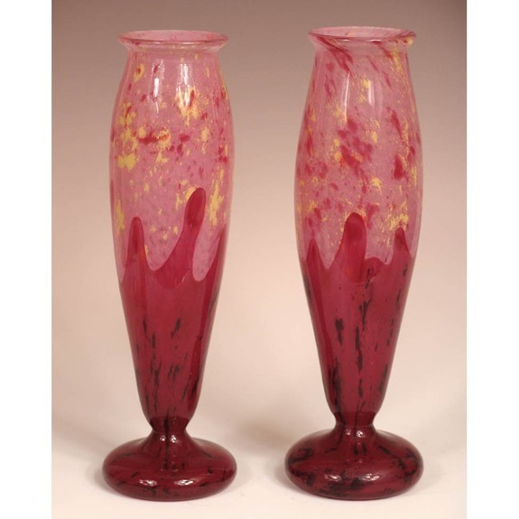 """Jade"" Pair of Vases"