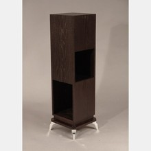 Stained Oak and metal pedestal