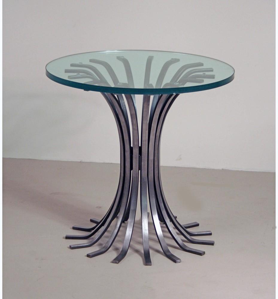 side table metalwork valerio art deco