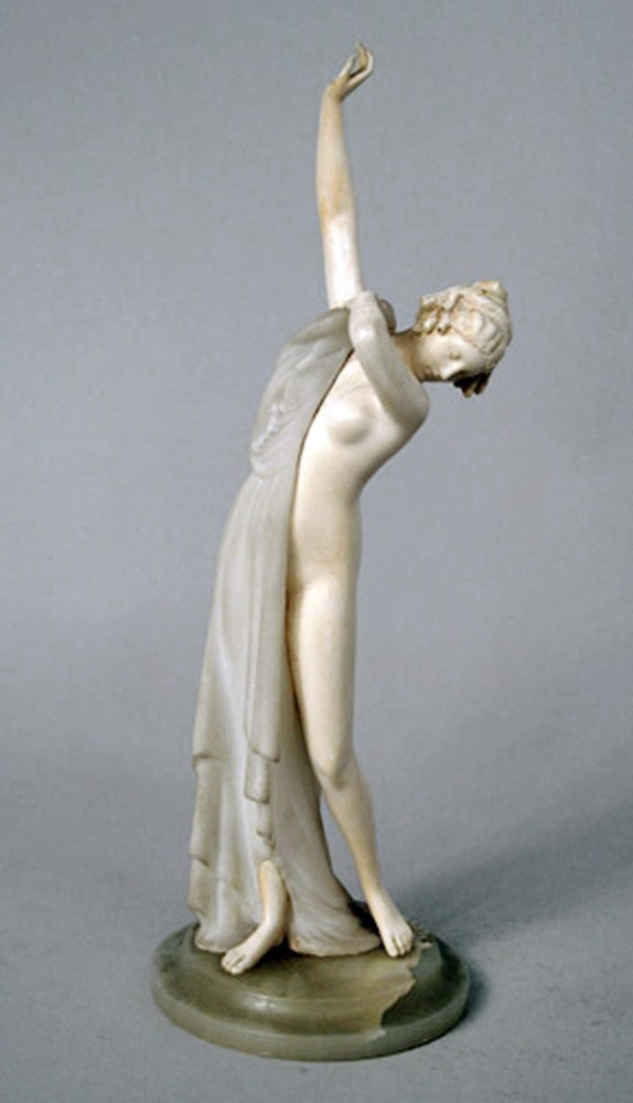 Marble and ivory semi-nude