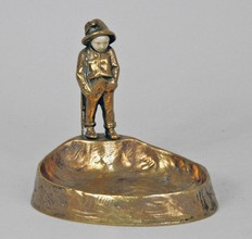 Bronze and ivory ashtray
