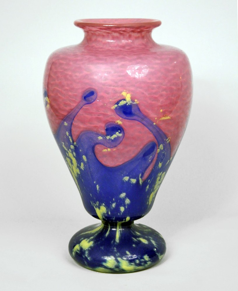 Pink and blue vase