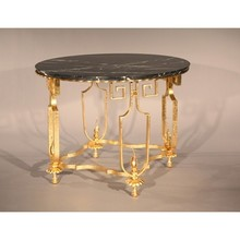 Gold-leaf wrought iron table