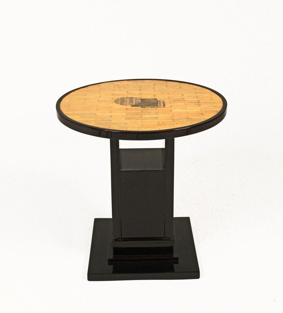 Shagreen top side table