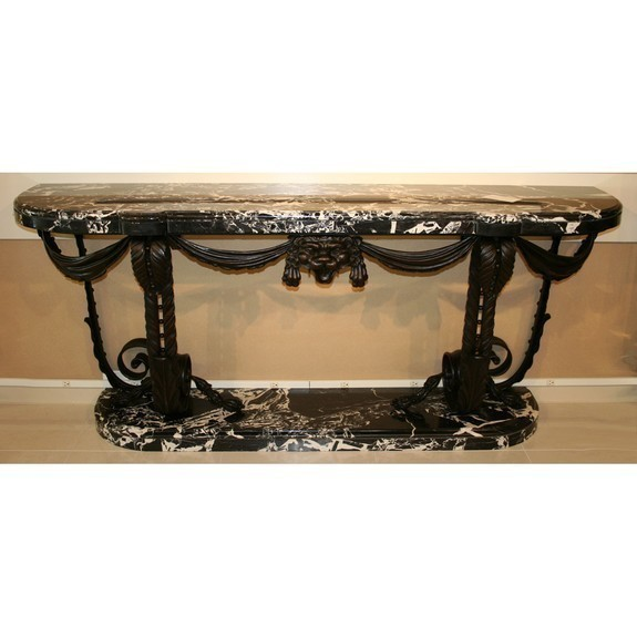 Wrought Iron Grand Console