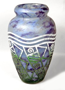 Acid etched vase