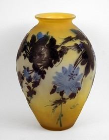Blue Flowers Vase