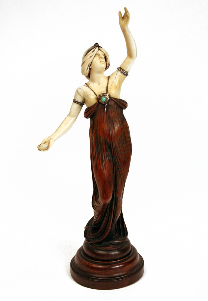 Wood and ivory sculpture