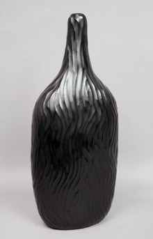 Black Murrine glass vase