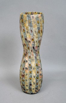 Murrine glass vase