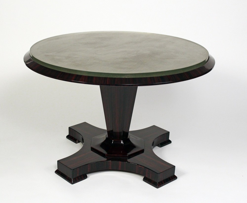 round top glass pier coffee table imports