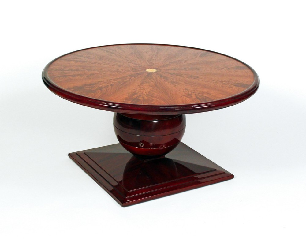 Round Coffee table with ivory inlaid