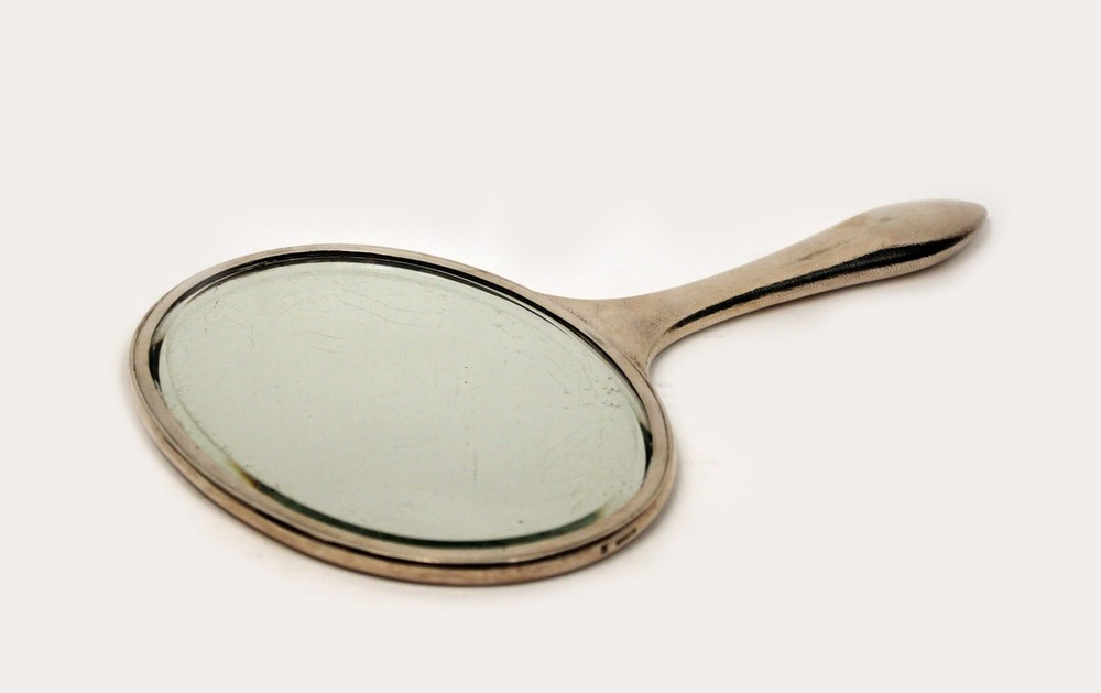 Sterling Silver Hand Mirror