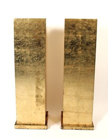 Pair of gold-leaf pedestals
