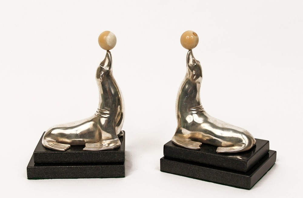 Pair of Seal Bookends