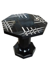 Eggshell and black lacquer table